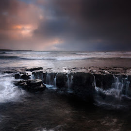 The Storm by Michal Tercjak - Landscapes Waterscapes ( water, ireland, waves, mood, dark, sea, rock, ocean, storm, darkness )