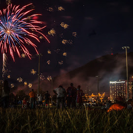 July 4th by Nathaniel Jorge - City,  Street & Park  City Parks ( mountain, park, sports, fireworks, va, roanoke,  )