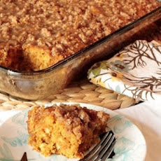 Pumpkin Coffee Cake w/ Brown Sugar Glaze