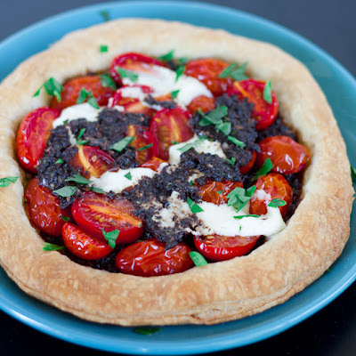 Tomato and Tapenade Tarts with Mascarpone Cheese