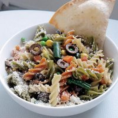 Erin's Outrageous Not-Just-Pasta Salad with Baked Tortilla Chips