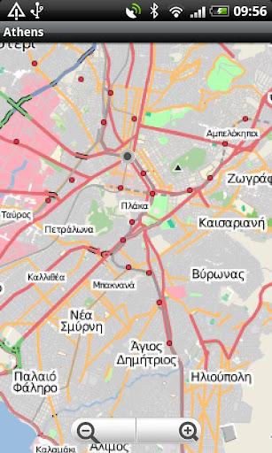 Athens Street Map