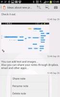 Screenshot of EventNote