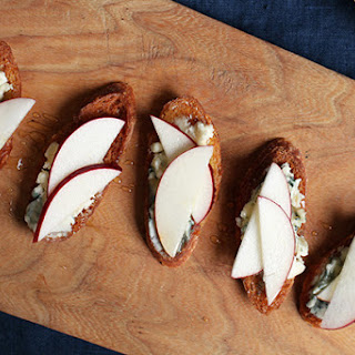 Blue Cheese, Apple, and Sage-Honey Crostini