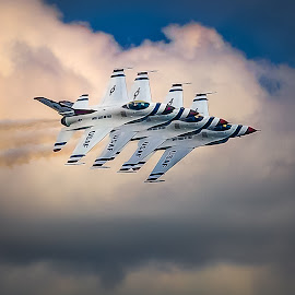 Thunderbird Four by Ron Meyers - Transportation Airplanes