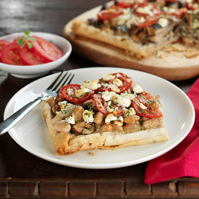 Wild Mushroom and White Bean Tart