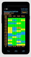 Screenshot of Disc Caddy - Disc Golf app