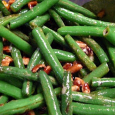 Green Beans with Pecans, Lemon and Parsley