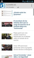 Screenshot of eldiario.es para android