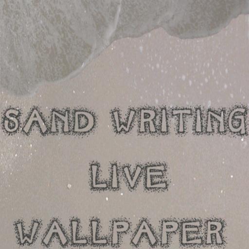 寫在沙地上的動態壁紙 LOGO-APP點子