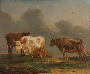 RIJKS: Paulus Potter: Four Cows in a Meadow 1651