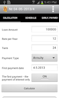 Screenshot of Loan calculator PRO