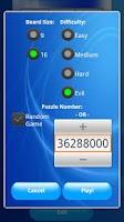 Screenshot of Sudoku Supreme 9x9 16x16 Free