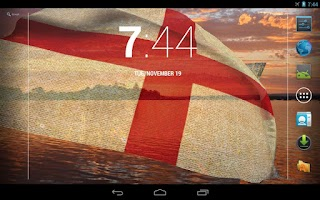 Screenshot of 3D England Flag Live Wallpaper
