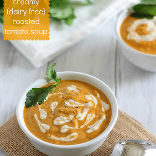 Creamy {dairy Free} Roasted Tomato Soup