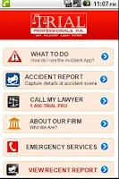 Screenshot of Accident App by 1800TRIALPRO