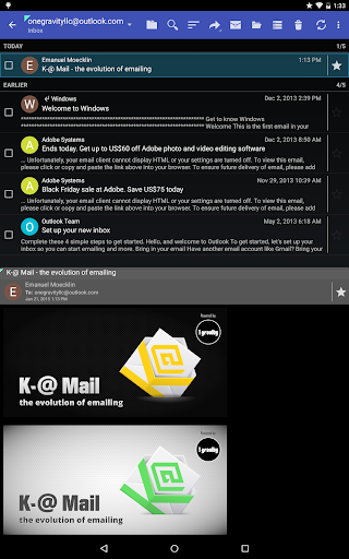 K-@ Mail Pro - Email App - screenshot