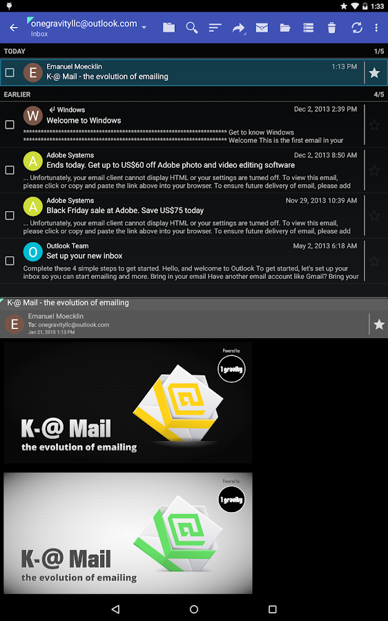 K-@ Mail Pro - Email App Screenshot 7