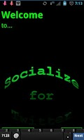 Screenshot of Green Socialize for Twitter