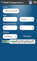 Screenshot of Body Temperature