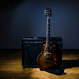 Les Paul by Luka Rudman - Artistic Objects Musical Instruments ( music, les paul, light painting, guitar, epiphone )