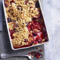 Spiced Plum & Blackberry Crumble