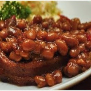 Sugar Smoked Beefy Baked Beans