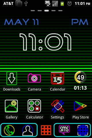 Neon Bar Signs GO Launcher EX