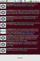 Screenshot of Cricket Tweets
