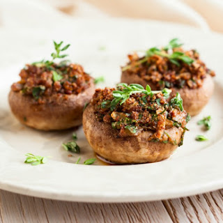 Stuffed Mushrooms Studded with Salami