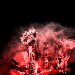 music on fire by Danny Charge - Digital Art People