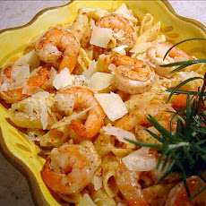 Rosemary Shrimp Penne With Butternut Squash Sauce