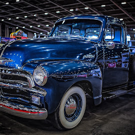 Blue Chevy by Ron Meyers - Transportation Automobiles