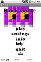 Screenshot of Block Game