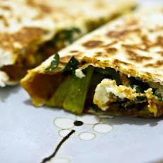Butternut Squash and Blue Cheese Quesadillas