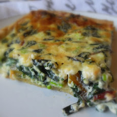 A Scrummy Tart of Chard and Cheese