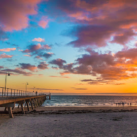 by Martin Lowe - Landscapes Sunsets & Sunrises ( glenelg, sunset, nice, adelaide, jetty, beach,  )