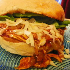 Ooey Gooey Pulled BBQ Chicken Sandwiches