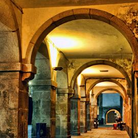 Miragaia Street by Antonio Amen - City,  Street & Park  Street Scenes