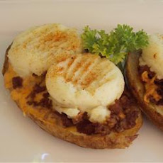 Chili Cheese Potato Skins