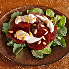 Roasted Beets with Tahini and Pine Nuts