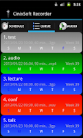 Screenshot of Schedule Voice Recorder