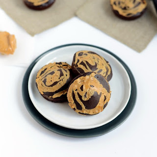 Peanut Butter Swirl Buckwheat Brownies