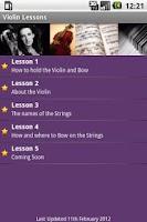 Screenshot of Violin Lesson Tutor
