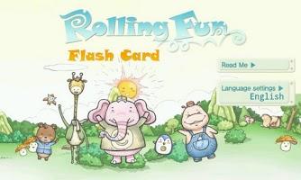 Screenshot of Rolling Fun Flash Card