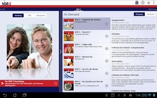 Screenshot of NDR Radio