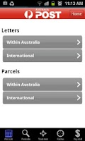 Screenshot of Australia Post