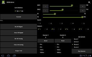 Screenshot of K8055 Demo (Donation Ver)