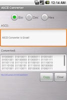 Screenshot of ASCII Converter