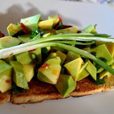 Bruschetta With Avo and Chilli Pepper Topping
